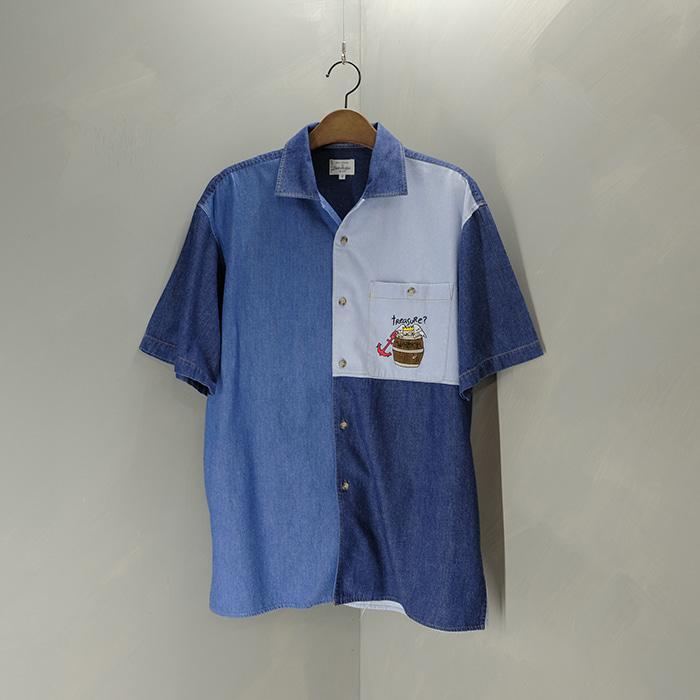 카스텔바작 / Made in japan  Jc de castel bajac denim mix shirt