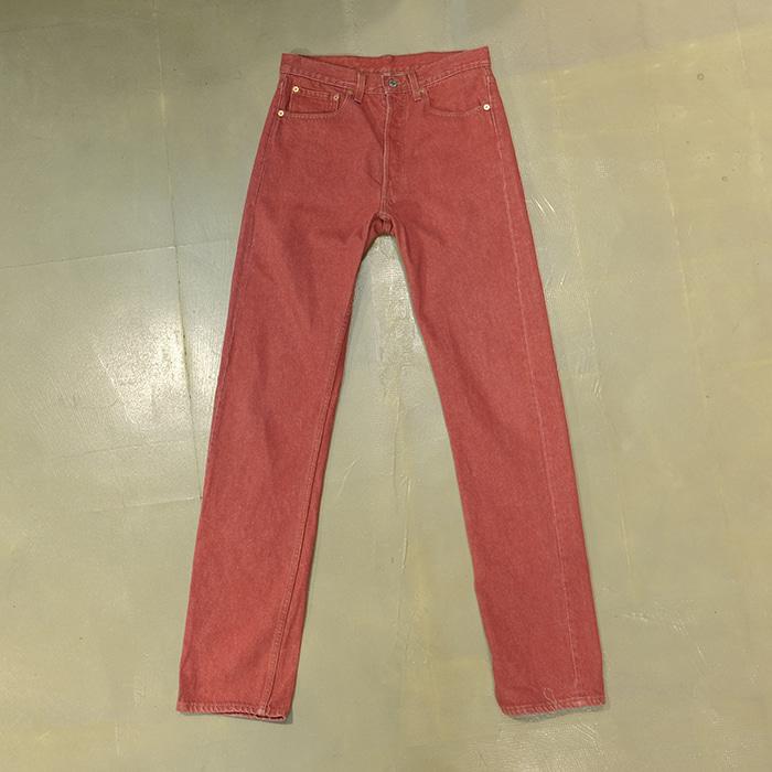 리바이스 / Made in usa  Levis 501 red denim pants