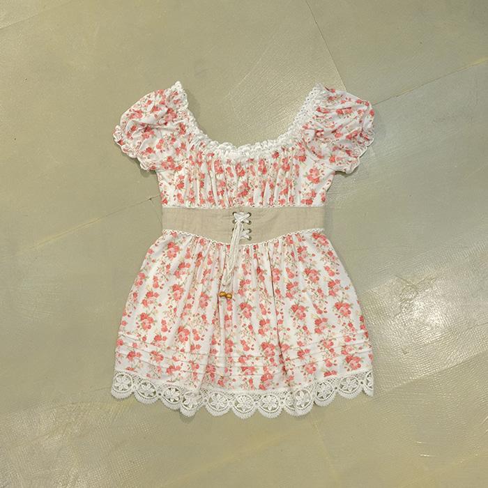 리즈리사  Liz lisa flower pattern corset micro opc/long top