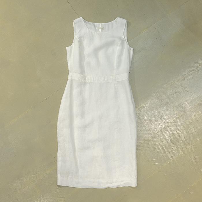 브룩스 브라더스  Brook brothers white linen sleeveless opc