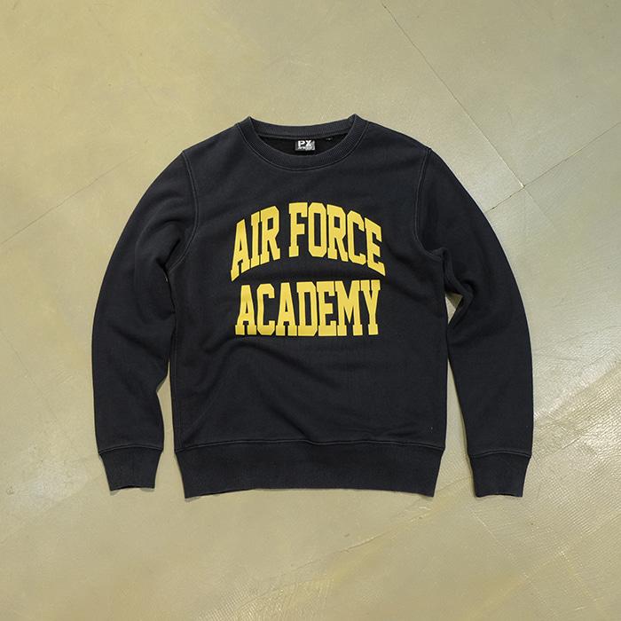 """아비렉스  Avirex """"airforce academy"""" print sweatshirt"""