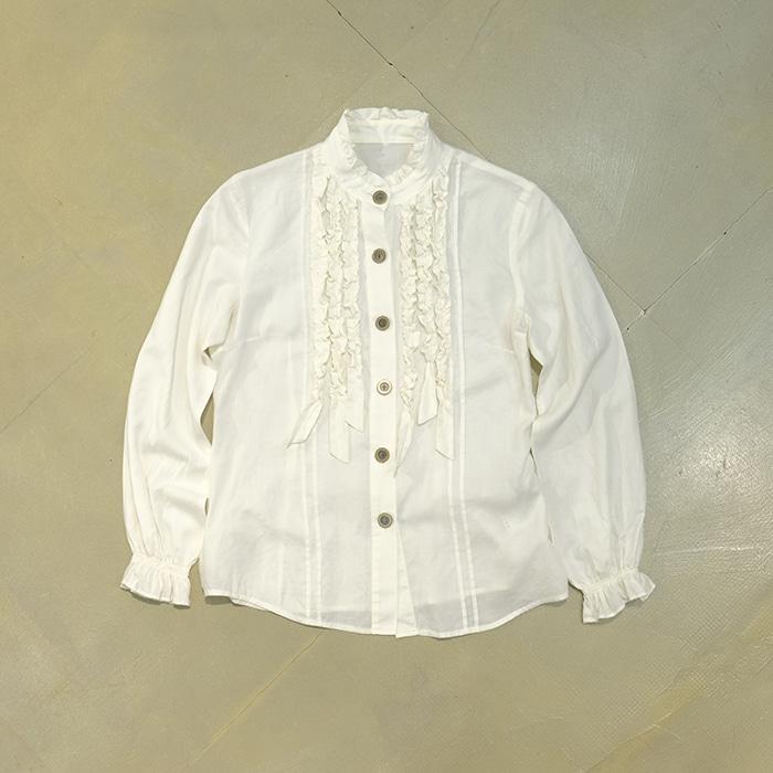 유나이티드 애로우즈 / Made in japan  United arrows frill blouse
