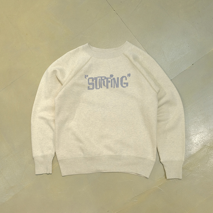 """비오 스포츠  BO sport """"surfing"""" print classic sweatshirt"""