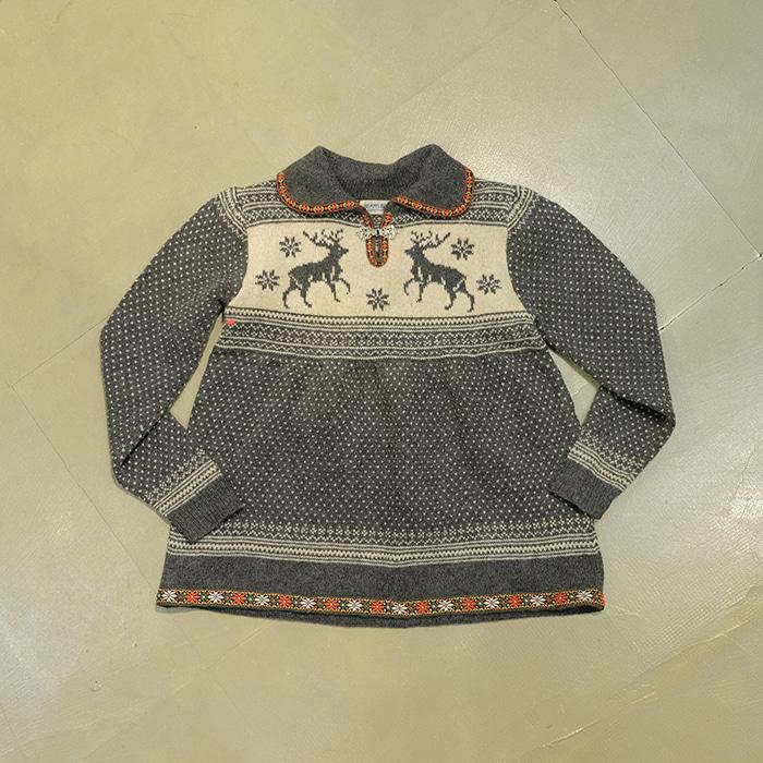 빔즈 보이  Beams boy nordic collar knit sweater