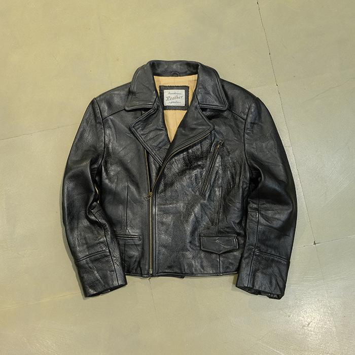빈티지  Vintage cow leather rider jacket