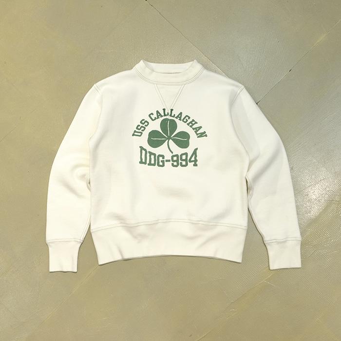 """쿠시맨  Cushman sportwear """"uss callaghan"""" print sweatshirt"""