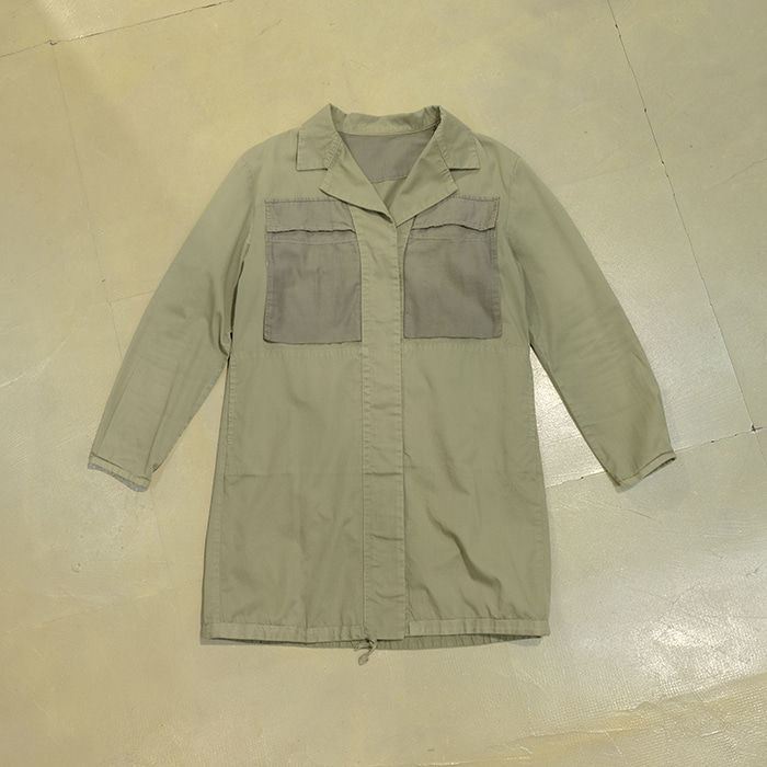 오드리 앤 존 와드 / Made in japan  Audrey & john wad mil motiv coat/long shirt