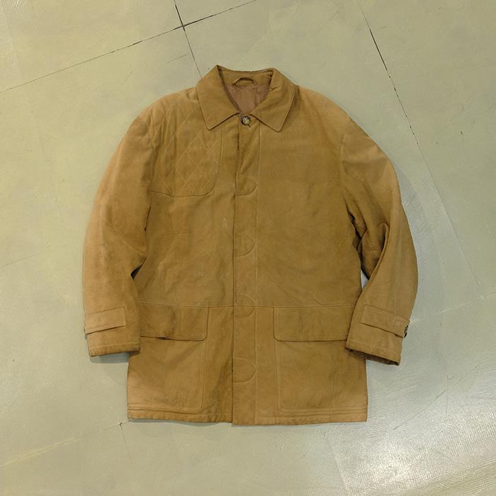 던힐 / Made in spain  80's vtg Dunhill nubuck hunting jacket