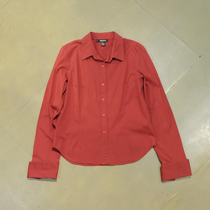 디케이엔와이  DKNY red span mix links cuff shirt