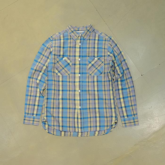 파이브 브라더스  Five brothers 2pocket check shirt (3stitch)