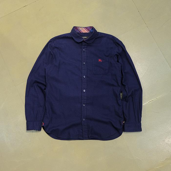 버버리 블랙라벨  Burberry blacklabel round collar shirt