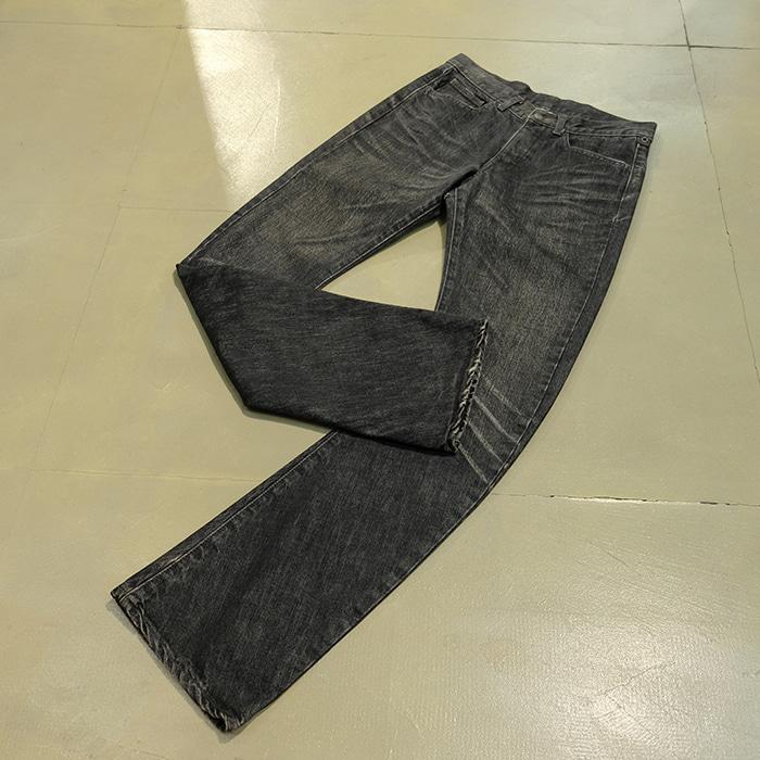 더블제이케이 / Made in japan  WJK slim washed black jeans