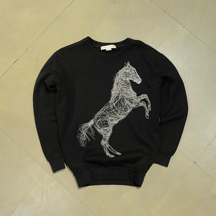 스텔라 맥카트니 / Made in portugal  Stella mccartney horse needlework sweatshirt