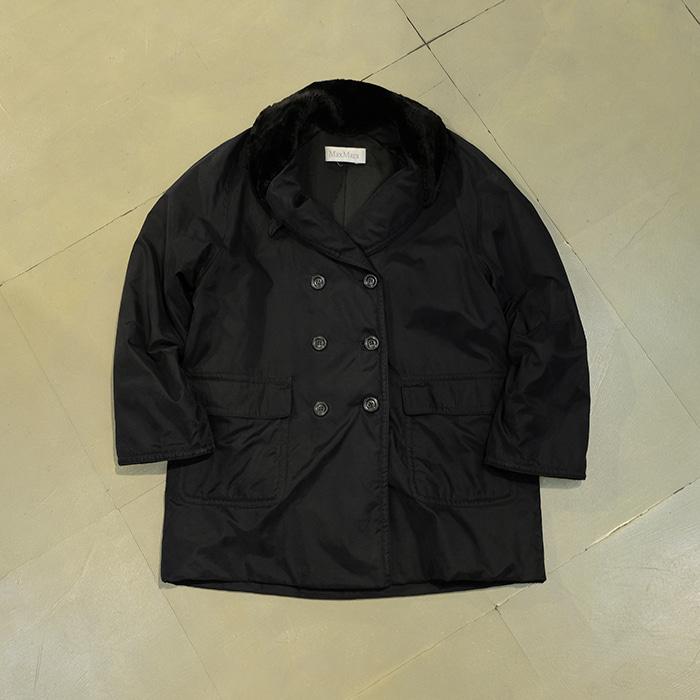 막스마라 / Made in italy  Maxmara fur collar double jacket