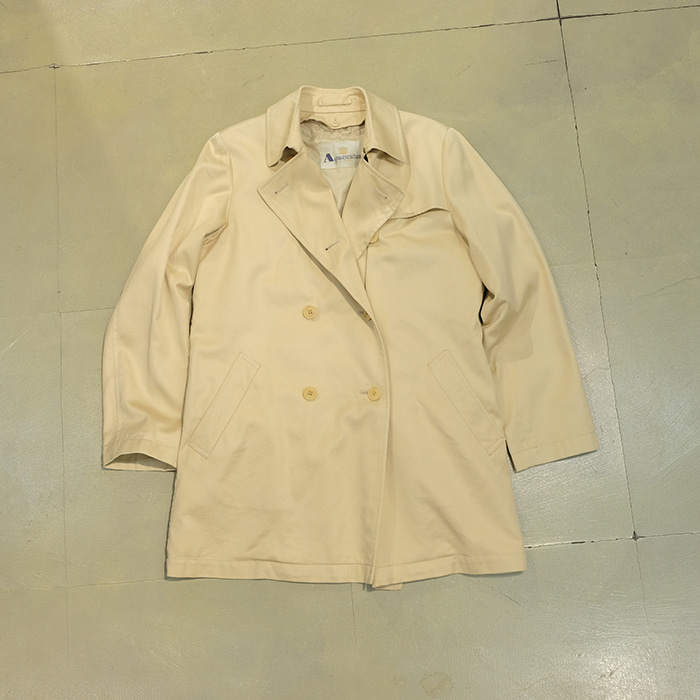 아쿠아스 큐텀 / Made in japan  Aquascutum detacable linned double half coat