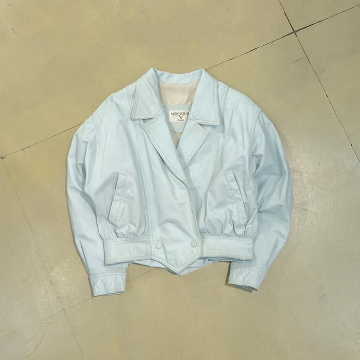 발렌티노  Valentino overfit&short leather rider jacket